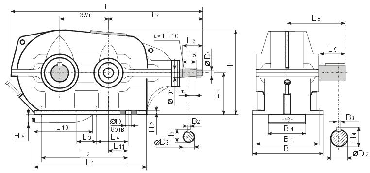 редуктор КЦ1-400
